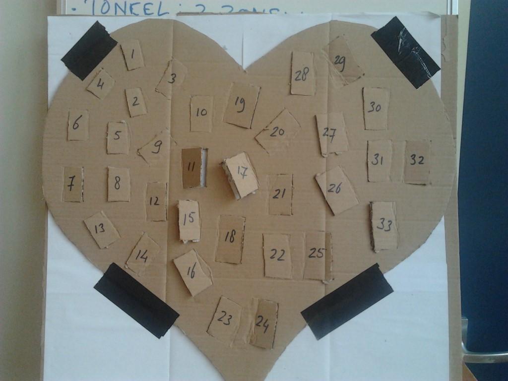 kartonnen hart programma kinderen